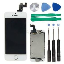 Replace LCD Frame Touch Digitizer Screen Home Button Camera for iPhone 5S White