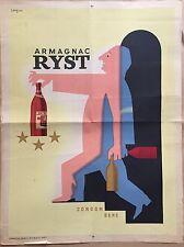 """SAVIGNAC """"ARMAGNAC"""" AFFICHE DES ANNÉES 40"""