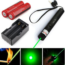 Military 532nm 5mw Green Laser Pointer Lazer Pen Beam 18650 battery Dual Charger