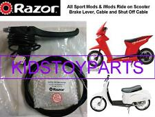 New! Razor iMod Electric Scooter Brake Lever Assembly with Shut Off Cable