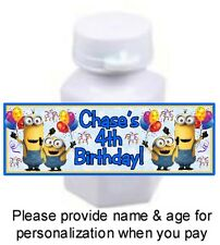 30 Despicable Me Minions Birthday Party Baby Shower Stickers Bubble Labels Favor