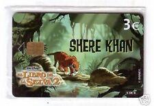 Carta telefonica Spagna  Disney Il Libro della Giungla 2 Shere Khan in blister