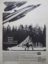 6/1966 PUB SAAB 35 DRAKEN ROYAL SWEDISH AIR FORCE ORIGINAL AD