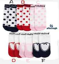 3 pairs Baby Infant Girls Allo & Lugh Ballerina Socks / 0-3 years