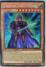 YuGiOh Legendary Knight Hermos DRL2-EN008 Secret Rare 1st Edition