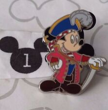 Mickey Mouse Pirates of the Caribbean Feather Hat Sword 2006 Disney Store Pin