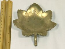 Lovely Solid Brass Maple Leaf Dish