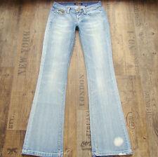 KILLAH New Seventy Trousers W26 L34 Stretch Bootcut Damenjeans blau Jeans 26/34