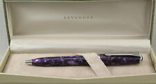 Levenger True Writer Purple Majesty & Chrome Ballpoint Pen - New In Box