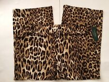 NWT~RALPH LAUREN PLUS~LEOPARD PRINT WIDE LEG PANTS~SIZE 3X~NEW~$135
