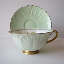 Shelley Duo, Primrose, Oleander (footed), Tea Cup, Saucer, #SE606