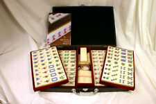 Chinese Mahjong w/Numbered Tiles Wood Case - Pro Set - Standard