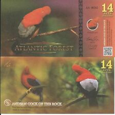 ATLANTIC FOREST BILLETE 14 AVES DOLLARS 2016