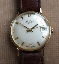 Bentima Star Watch 1979 9ct Gold Presentation Original Strap And Box