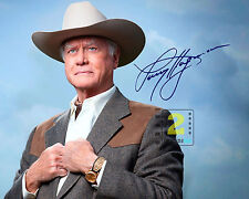 "Larry Hagman 10""x 8"" Signed Color PHOTO REPRINT"