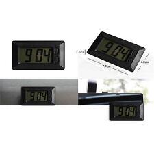 Digital Qtz LCD Display Auto Car Truck Dashboard Mini Clock Black