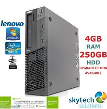 Fast lenovo M82 sff 3rd gen i5 quad core max 3.6GHz 4GB 250 wifi cheap win 7 pro