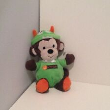 "NEW NO TAGS Baby's 1st Halloween Carters Monkey Plush 8"" Rattle First Costume"