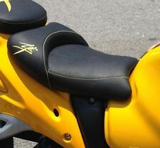 Hayabusa Custom Shaped/Covered Front Seat Seat w/Yellow Embroidering 08-12-13-16
