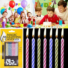 20Pcs Magic Relighting Candle Relight Birthday Party Fun Trick Cake Joke Gift