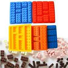 Lego 3D Brick Mold Silicone Tray Chocolate Ice Cube Jelly Fun Mould