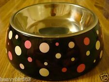 #108  HIDDEN DIVERSION SECRET SAFE DOG, CAT BOWL METAL PAN & COVER / POLKA CAN!