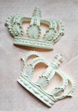 Mouldings Shabby Chic Furniture Applique Large Prince Princess Crown Wall Bed
