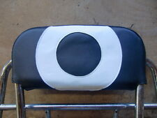 Black/White Target Back Rest Cover (Purse Style) Vespa/Lambretta