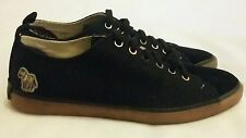 PAUL SMITH Lokai heavy toile/daim noir baskets taille uk 8 eu 42