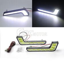2x L-Shape Super Bright White COB LED Fog Driving Daytime Running Light DRL 12V