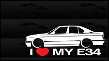 I Heart My E34 Sticker Decal Love BMW M5 528 540 Sedan Slammed Car Euro Germany