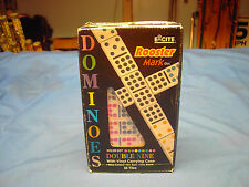 Rooster Mark Color Dot Double Nine Dominoes with Vinyl Carrying Case
