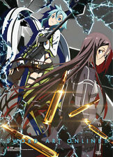 **License Poster** Sword Art Online 2 Kirito & Sinon Key Art Wallscroll #60960