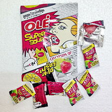 Ole SUPER EXTREME SOUR Coated Hard Candy Strawberry Lime HIGH VITAMIN C Warheads