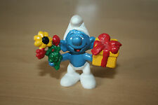 Original Gift & Flowers Smurf 2.0040 Schtroumpfe Schlumpfe Puffi Good Condition