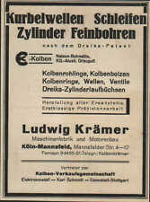 Werbung: CANNSTATT, um 1933, Ludwig Krämer Maschinen-Fabrik und Motorenbau