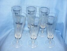 Set of 6 Vintage Old Brandini Drink Wine Glasses Advertising Kitchenalia