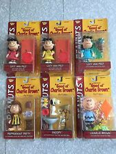 2002 Peanuts Memory Lane Figures – Lucy (3), Snoopy, Charlie Brown & Peppermint