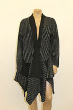 TRANSPARENTE GERMANY PLUS ASYM JERSEY KNIT SMOCKING OPEN FRONT CARDIGAN JACKET 1