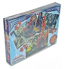 NEW OFFICIAL MARVEL SPIDERMAN JIGSAW PUZZLE TRIO PUZZLE GAME 3 IN 1 PUZZLES