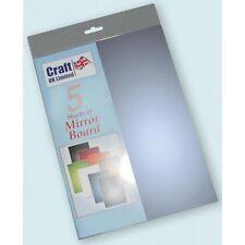 A4 cardstock blätter spiegel mirri bord - Blau Packung mit 5 stück