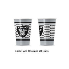 New 20pc NFL Disposable Party Supplies Paper Cup Cups Oakland Raiders