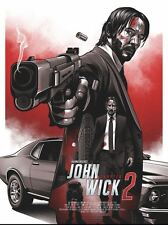 John Wick 2 Variant Alternative Movie Poster Art by Amien Juugo No. /30 NT Mondo