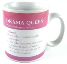 DRAMA QUEEN 2007 Pink & White Definition Coffee Cup Mug