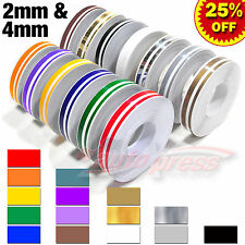 "12mm 1/2"" PinStriping Pin Stripe Steamline DOUBLE LINE Tape Decal Vinyl Stickers"