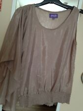 Dorothy Perkins 'Purple' Range Champagne Coloured Batwing Pretty Top