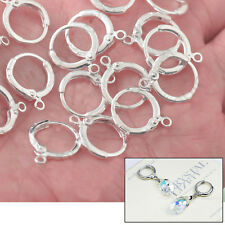 20pc Lever Back Silver Earwires Jewelry Findings for Earrings Make
