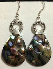 ROYAL BALI COLLECTION ABALONE /ONYX STERLING EARRINGS 35.00 cts