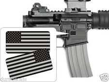 Pair American Flag Black Ops Stickers Decals / Punisher AR-15 5.56 Stickers AR15