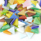 70+ PCS 10mm Triangle Stained Glass Mosaic Multicolour Crystal Translucent 50g